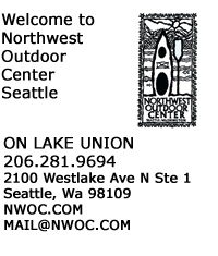 Northwest Outdoor Center 2100 Westlake Ave N Ste 1<br> Seattle, Wa 98109<br> 206-281-9694 <br>mail@nwoc.com